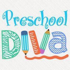 d9c4eeef3db1 Preschool Diva Printable Digital Iron On Transfer Clip Art DIY Tshirts  Instant Download