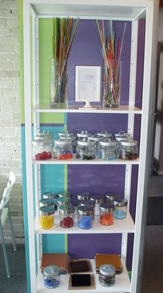 Our DIY glass fusing station.  Come on in....pick your project and we will show you how!