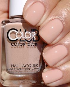 Brand: Color Club // Collection: Shift Into Neutral (2015) // Color: Barely There // Blog: KellieGonzo