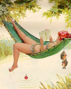 Reminds me of you! Love a hammock Wall Art Print- Art Reproduction Vintage Sexy Pin-up Girl Vintage Sexy Plus-size Pin-up Girl Duane Bryers Hilda Print 8 x Pinup Art, Pin Up Girl Vintage, Vintage Pins, Vintage Art, 50s Vintage, Arte Pin Up, Pin Up Girls, Arte Pop, Photos Du