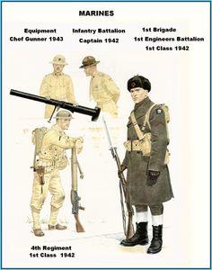 USMC - 1st Brigade-4th Regiment-Logistics- Infantry Battalion - 1942/43