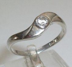 Schöner 925er Silberring mit Kristallstein Größe von Schmuckbaron