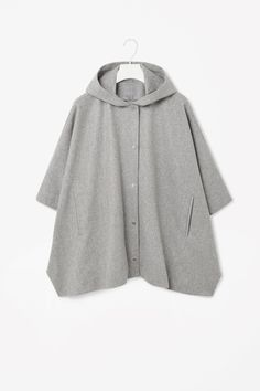 HOODED CAPE JACKET