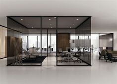 Tinted glass partition