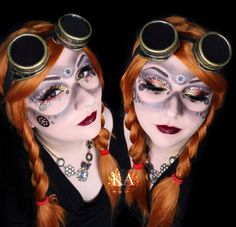 Steampunk Makeup w/ Tutorial by KatieAlves.deviantart.com on @DeviantArt