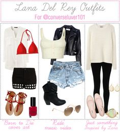 """Lana Del Rey Outfits"" by musical13love ❤ liked on Polyvore"