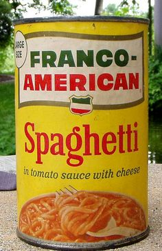 1960s Franco-American Spaghetti can | Flickr - Photo Sharing! I loved this as a young girl