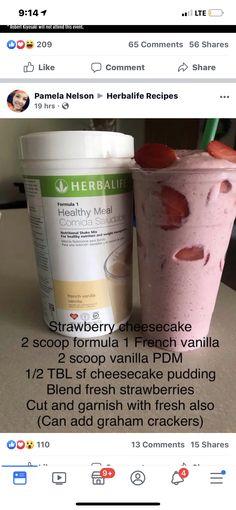 Herbalife Meal Plan, Herbalife Shake Recipes, Protein Shake Recipes, Herbalife Nutrition, Protein Shakes, Smoothie Recipes, Nutrition Shakes, Healthy Shakes, Herbal Life Shakes