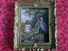 Children Picture (Y138) - Paintings. Over 10,000 similar dolls house miniature products available from www.thedollshousestore.co.uk