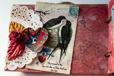 Spotlight Sunday bird collage mini book #mixedmedia