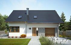 Maksymilian II - Dobre Domy Flak & Abramowicz Home Garden Design, Home And Garden, Micro House, House Entrance, Small House Design, House Roof, Ranch Style, Future House, Facade