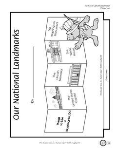 worksheet washington monument american symbols pinterest social studies monuments and. Black Bedroom Furniture Sets. Home Design Ideas