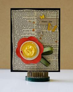 Love using vintage book pages