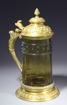 Amber Glass Beer Stein