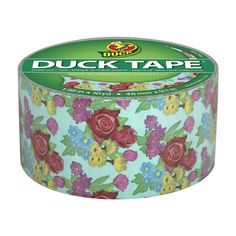 Duck Brand 283042 Printed Duct Tape, 1.88-Inch x 10-Yard, Single Roll, Teal Blooms