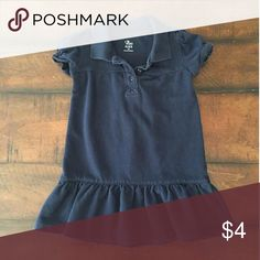 Navy blue dress Polo shirt dress. Super cute with some bright colored leggings. Good condition. Children's Place Dresses