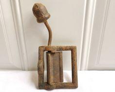 Antique Vintage Cast Iron Acorn Tip Hardware Wall Mount Primitive Repurpose Old! in Other   eBay