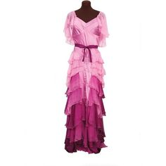 HERMIONE GRANGER Yule Ball Gown X Large ($60) ❤ liked on Polyvore featuring costumes, dresses, pink halloween costumes and pink costume