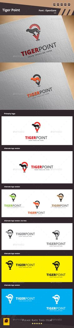 Tiger Point  - Logo Design Template Vector #logotype Download it here: http://graphicriver.net/item/tiger-point-logo-template/10018673?s_rank=1431?ref=nexion
