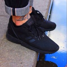 sneakers for cheap b25e7 0f720 It s been a long time since my last pair of Adidas! All black Adidas ZX  Flux.