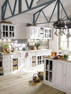 stilvolle küche. grau wandfarbe zu weißer küche white kitche, Innenarchitektur ideen