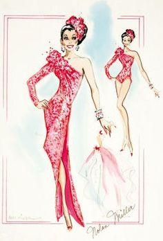 Nolan Miller glam design from the 80s: Pintuckstyle.blogspot.com