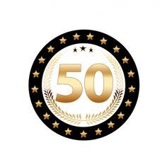 Luxe 50 jarige bierviltjes.  Zwart met goudkleurige uitvoering en enkelzijdig bedrukt. Fun en Feest 50 jaar feestartikelen.