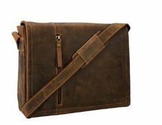 Amazon.com: Visconti Oiled Leather Distressed Large Laptop Messenger Bag (Tan): Computers & Accessories