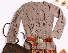 Lots of great patterns available for : easy beginner aran 4 ply double knitting. Cable &I-cord Pullover. Knit Cardigan Pattern, Hand Knit Scarf, Cable Knitting, Cable Knit Sweaters, Woolen Tops, I Cord, Arabesque, Mantel, Knitwear