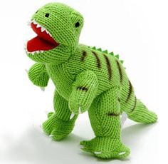 Rawr! George the Dinosaur Knitted Soft Toy, shop now http://www.thebabyboxcompany.com/george-the-dinosaur-knitted-soft-toy.html