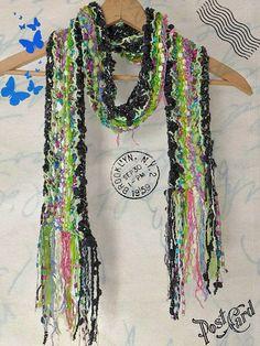 SALE Knitted Womens Scarf / Handmade scarf /OOAK by Dreamfiber