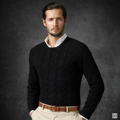 sweater and chinos