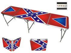 Rebel Flag Beer Pong Table