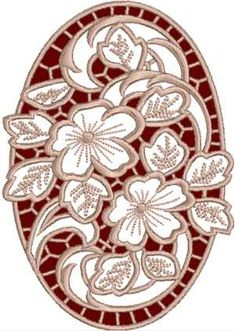 Advanced Embroidery Designs - Cutwork Oval Geranium Lace