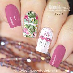 Paris Nail Art, Paris Nails, Stylish Nails, Trendy Nails, Metallic Nails, Acrylic Nails, Diy Nails, Cute Nails, Flamingo Nails