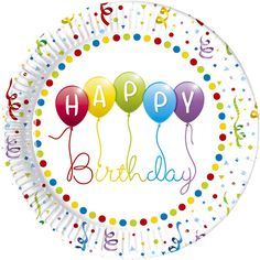 Thème d'anniversaire Happy birthday ballons - Annikids