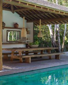 Todo lo que necesitás saber para tener un quincho perfecto | Para Ti Tropical House Design, Tropical Houses, Rest House, My House, Small Backyard Pools, Dream Home Design, Ranch Style, House Goals, Future House