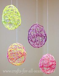 Learn how to make these beautiful embroidery floss Easter eggs from Crafts For All Seasons.