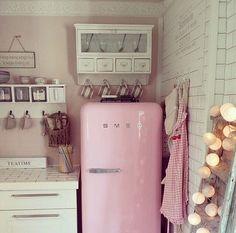 Loving the pink SMEG fridge