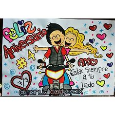 "24 Me gusta, 1 comentarios - Manualidades Yaix (@manualidadesyaix) en Instagram: "" #aniversario  #amor en #pancartas"" Boyfriend Goals, Ms Gs, Baby Names, Disney Characters, Fictional Characters, Snoopy, 1, Valentines, Drawings"