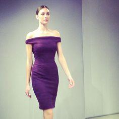 Purple. Monique Lhuillier Fall 2013.