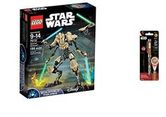 LEGO Star Wars General Grievous 186PCS & Star Wars Projector Pen, Colors may vary Playsets Building Toys * Click image for more details.