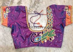 Blouses with Peacock Work | Saree Blouse Patterns