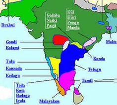 Dravidian Language Map