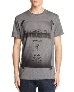 T-Diego-Hn Graphic-Print Cotton T-Shirt, Black