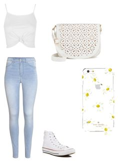 ◽️ by simplyrosa on Polyvore featuring polyvore, fashion, style, Topshop, H&M, Converse, Under One Sky, Kate Spade and clothing