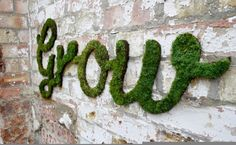 Anna Garforth's moss graffiti - instructions on Design the Life You Want to Live, found via http://www.theartofdoingstuff.com/