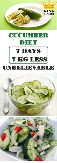 Cucumber Diet (7 days – 7 kg Less) Unbelievable! - King Healthy Life