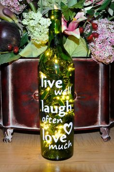 Lighted Wine Bottle Lights