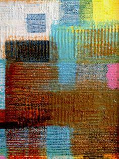 Boro I, 2015, detail: acrylic on mixed media